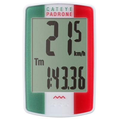 CatEye Padrone Cycle Computer Italian Flag Design