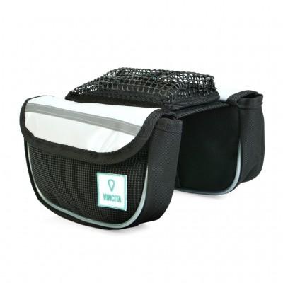 Vincita Top Tube Double Bag with Phone Pocket Tarpaulin