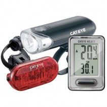 Cateye Go-Kit Bike Light Cycle Computer Combo