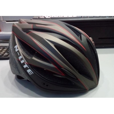 N-Lite Sleek Black Bicycle Helmet