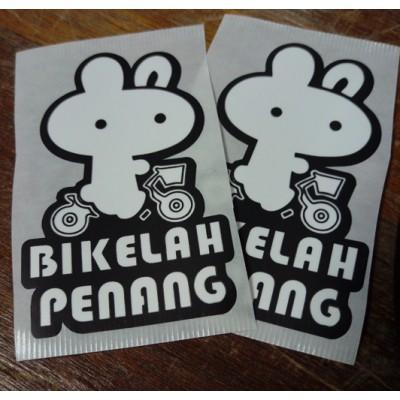 Bikelah Penang Sticker