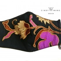 [Made in Malaysia] Batik Floral Print Breathable Washable Face Mask by CW Design
