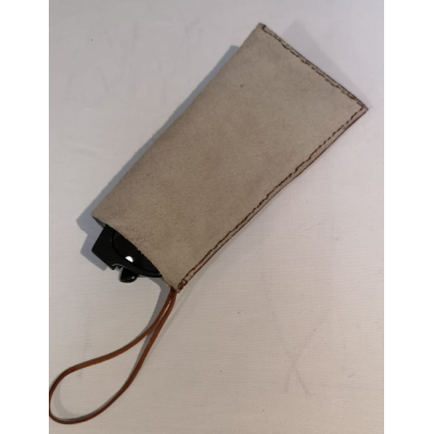 Handmade Leather Pouch, multi use, store handphone, spectacles, mask