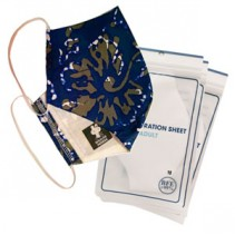 3 Ply Reusable Batik Protective Mask + Virus Filtration sheet+Hand Sanitizer  Promo Pack