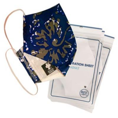 3 Ply Reusable Batik Protective Mask + Virus Filtration sheet+Hand Sanitizer  Promo Pack