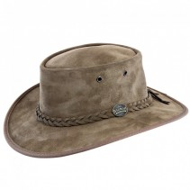 Barmah Foldaway Suede Leather Hat