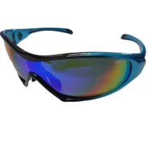 IDEAL Sunglasses 8907 Blue (REVO Green Mirror)