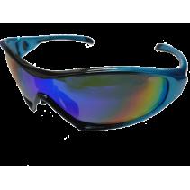 IDEAL Sunglasses 8907 Blue (REVO Green Mirror)