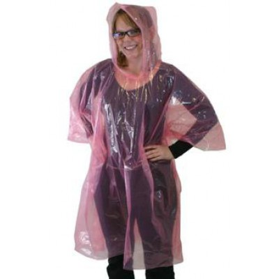 Lightweight Vinyl Poncho ( Rain Coat ) With Hood