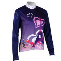 Roswheel Purple Ladies Long Sleeve Cycling Jersey