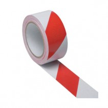 Red and White Adhesive Floor Tape