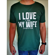 Bikelah I Love My Wife Sport Tee