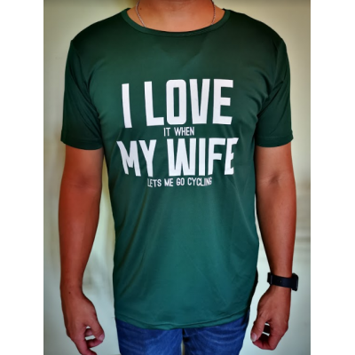 Bikelah I Love My Wife Sport Tee