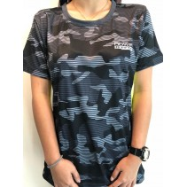 Howei Knight Grey Camouflage Body Fit Sports Tee