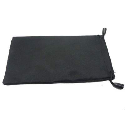 Black soft sunglasses pouch