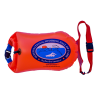 Safe Swim Buoy Dry Bag with Mobile Phone Pocket (Orange)
