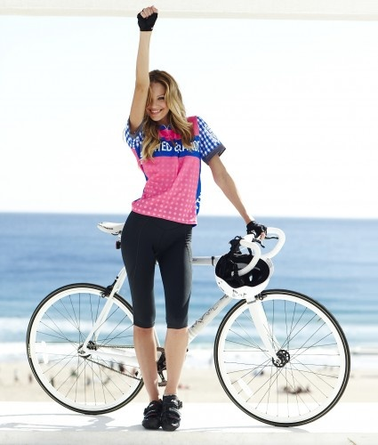 Blonde Girl Cyclist