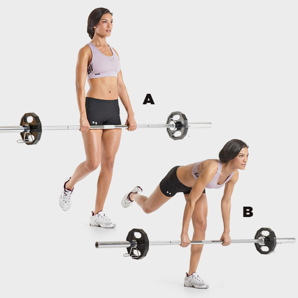 Woman Single Leg Deadlift