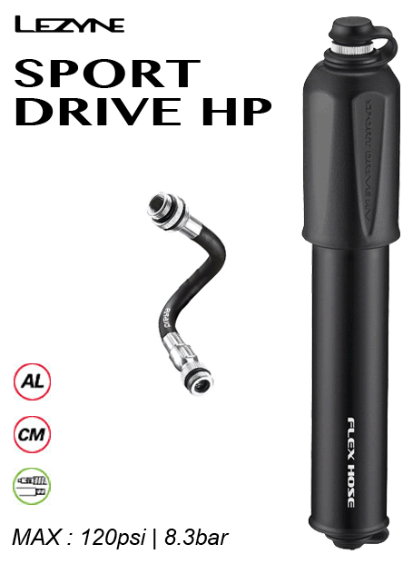 Lezyne High Pressure Sports Drive Pump