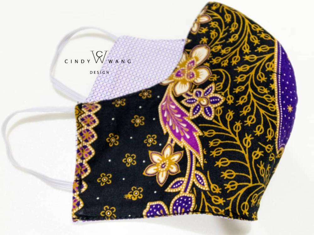 Batik Face mask Back