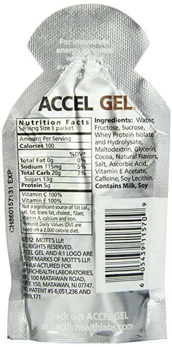 Accel gel ingredients