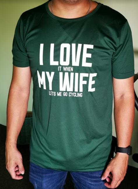 Bikelah I Love My Wife Tee
