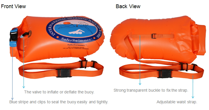 On Sale Safe Swim Float Buoy Dry Bag 20l Orange
